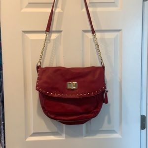 Aldo red purse with gold accents